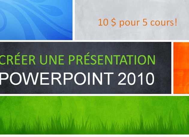 How to use Powerpoint? 5 classes in french only